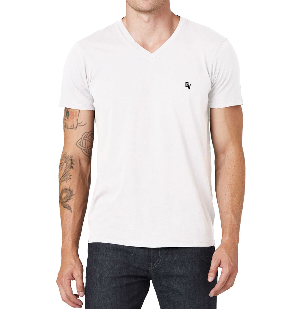 Giovoss Embroidered V-Neck T-Shirt