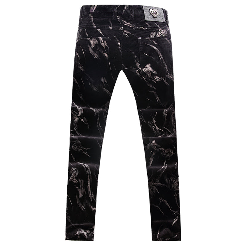 Casual Patterned Stretch Pants