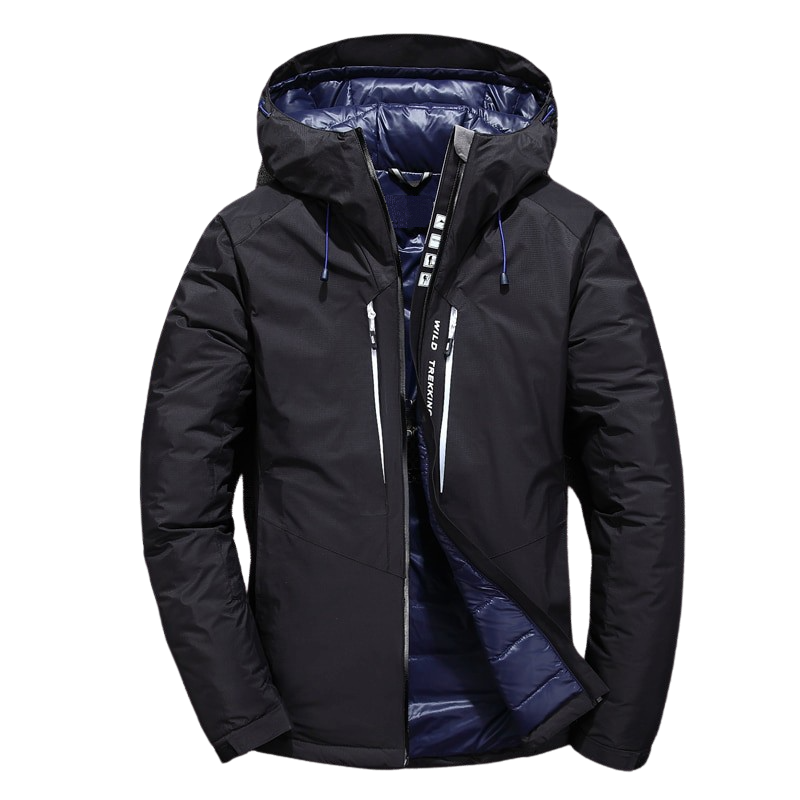 Zipper Thick Hooded Jacket