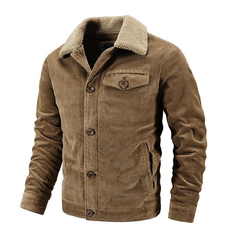 Warm Corduroy Collar Jacket