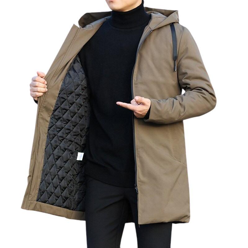 Hooded Windbreaker Trench Coat