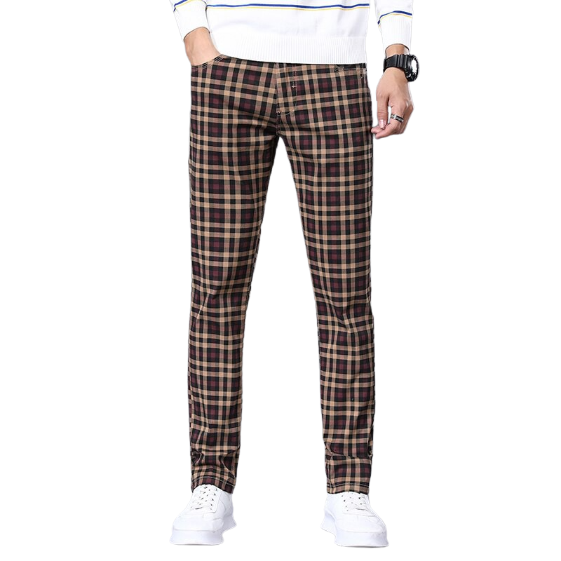 Regular Fit Checkered Pants