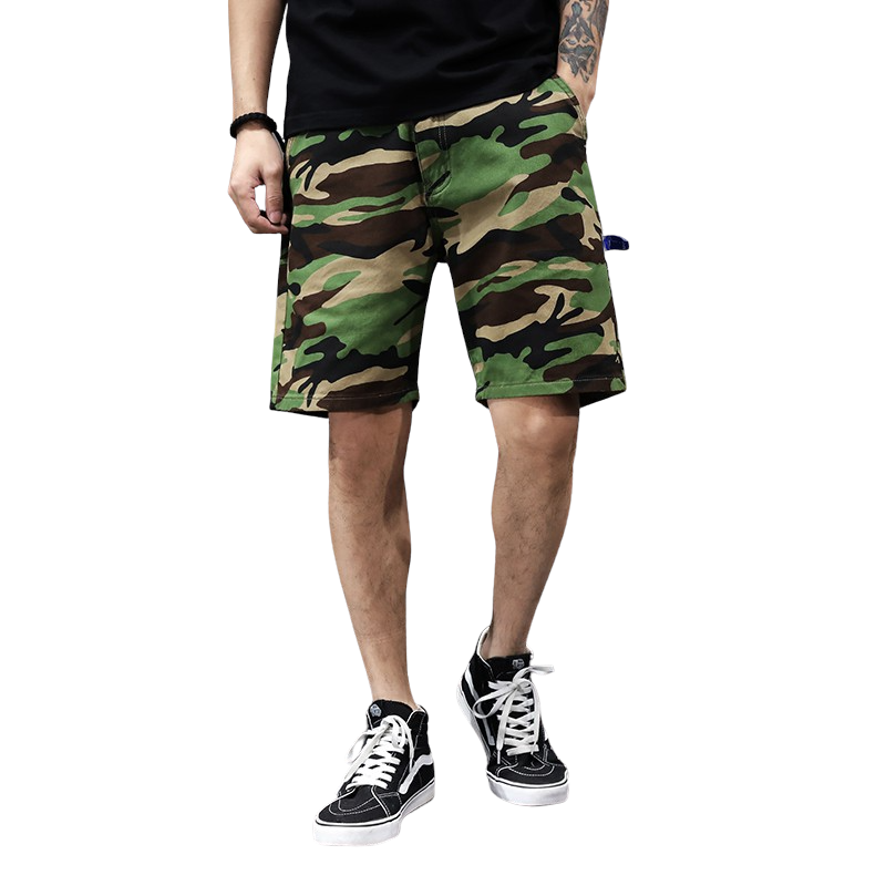 Loose Fit Camouflage Shorts