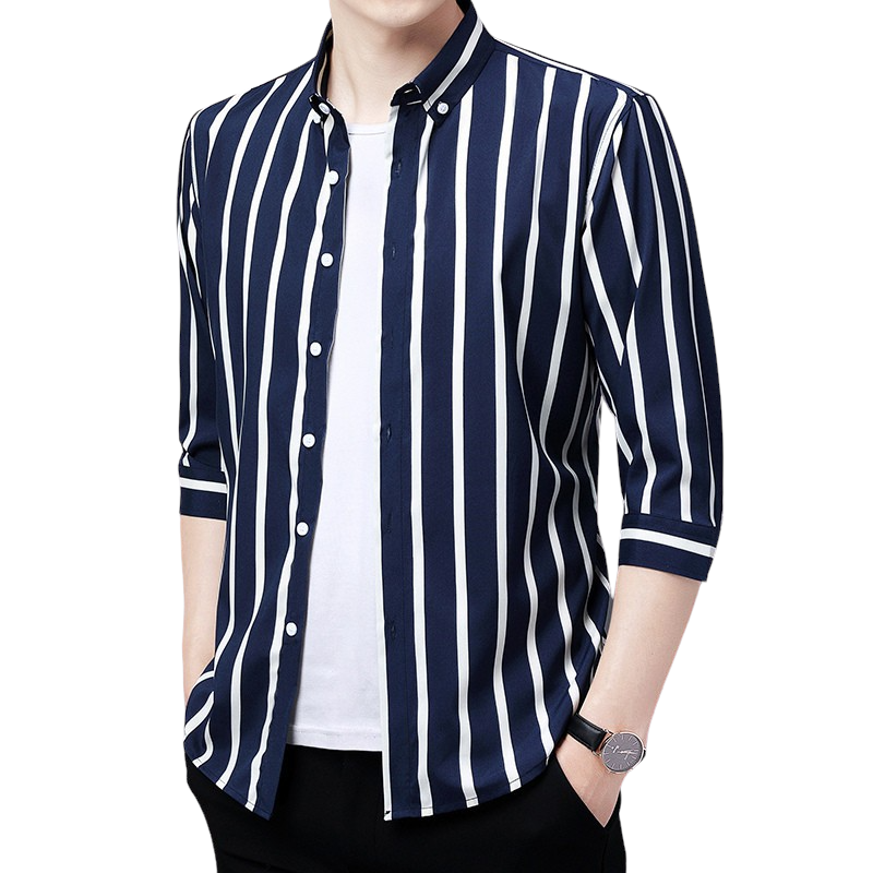 Striped Blue Button Shirt