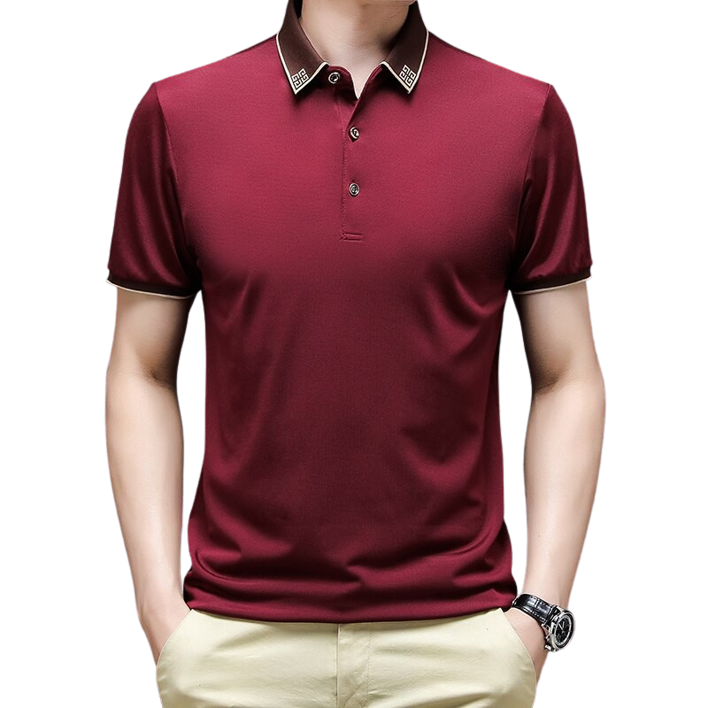 Elegant Collar Polo Shirt