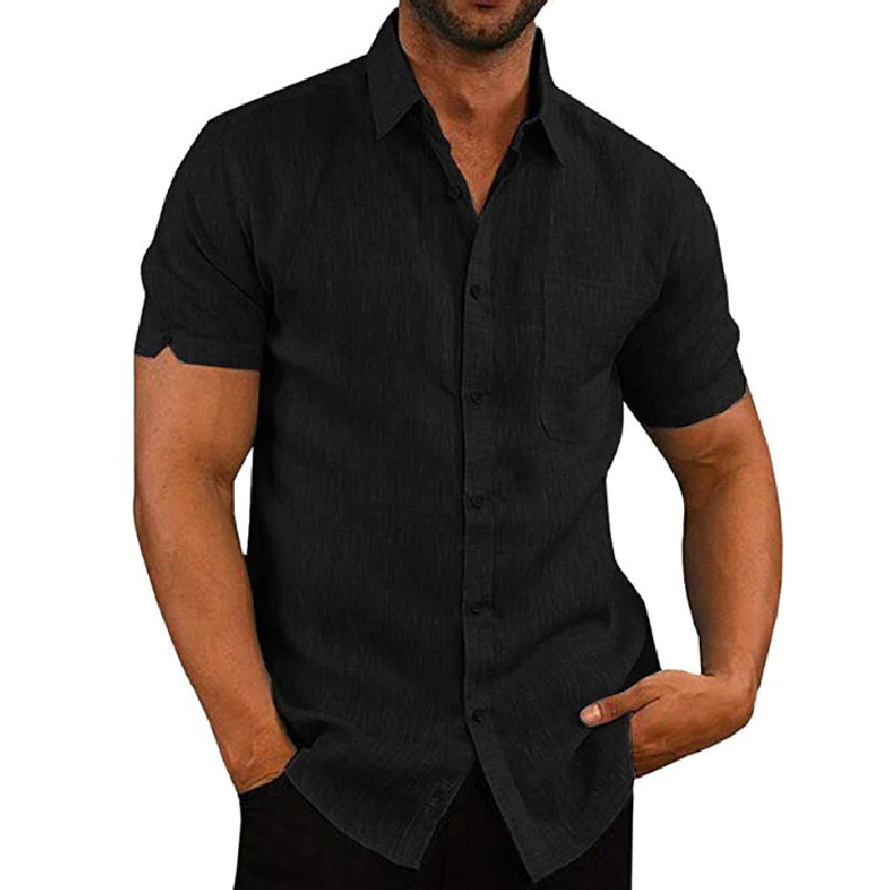 Short Sleeve Loose Button Shirt