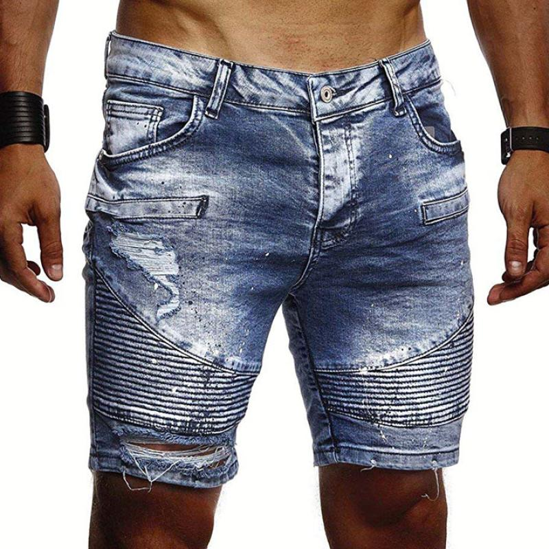Light Washed Denim Shorts