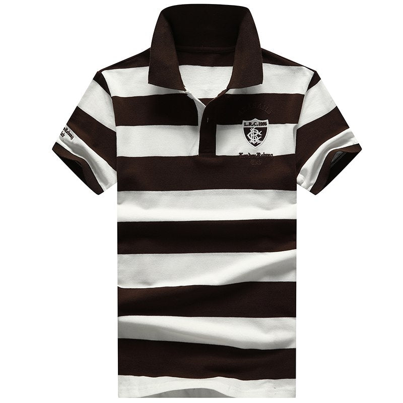 Striped Midnight Polo Shirt