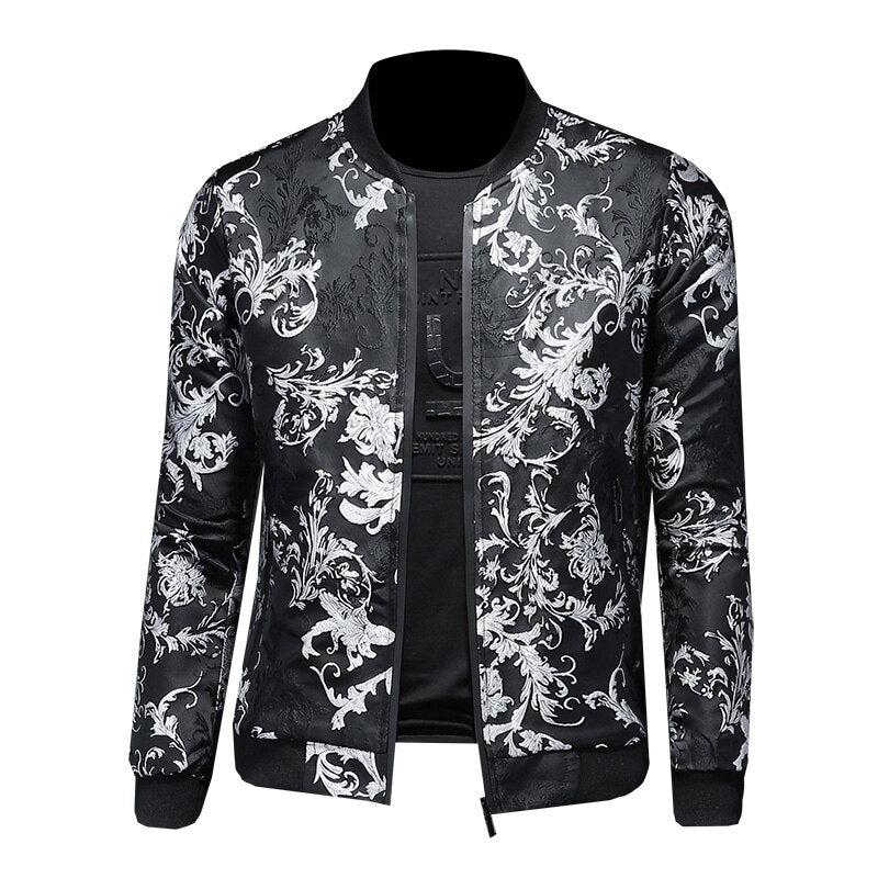 Slim Fit Floral Patterned Jacket