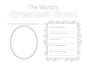 The World's Greatest Mom (Free Printable)