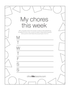 My Chores This Week (Free Printable)