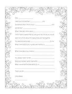 My Goodbye Letter (Free Printable)