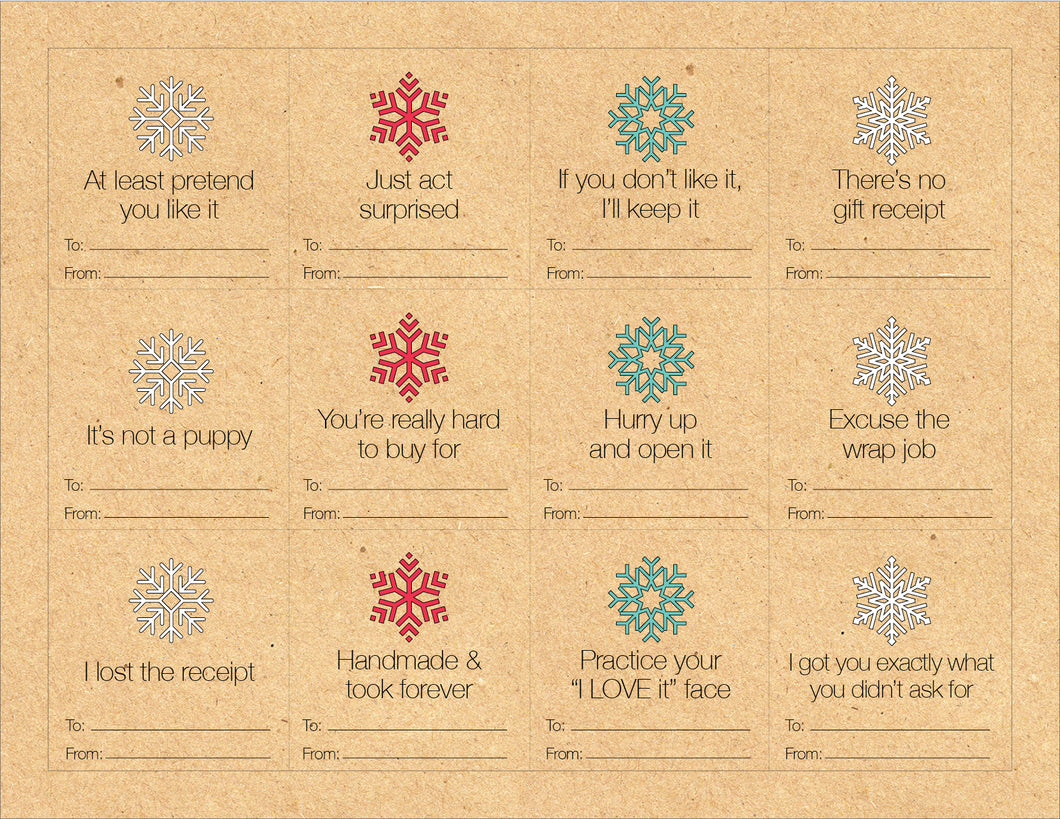 Kraft Holiday Gift Tags (Free Printable)