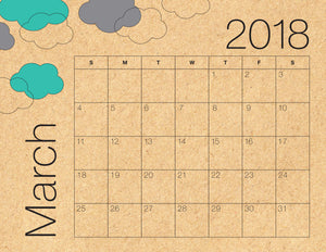 March Calendar Kraft (Free Printable)