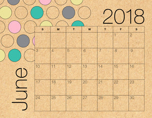 June Calendar Kraft (Free Printable)