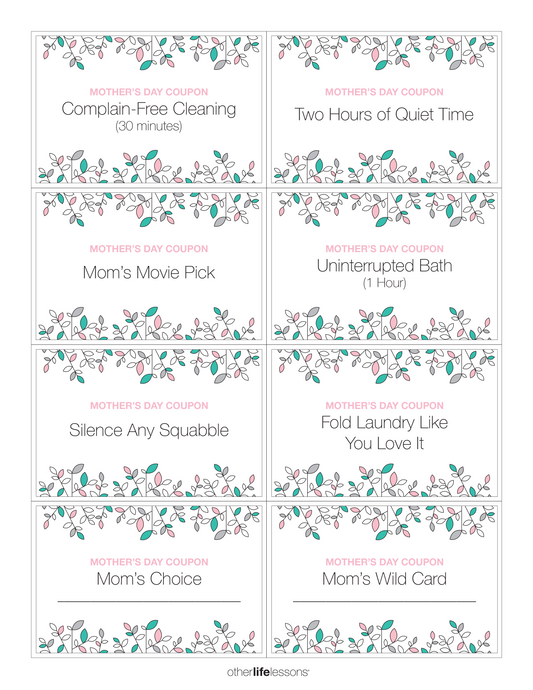 Mother's Day Coupons (Free Printable)