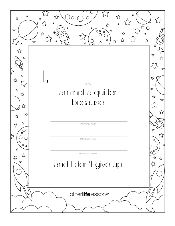I Am Not a Quitter Pledge (Free Printable)