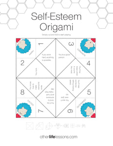 Self Esteem Origami Game (Free Printable)