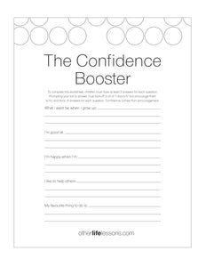The Confidence Booster (Free Printable)