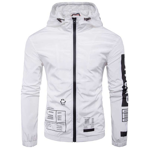 White Windbreaker Jacket
