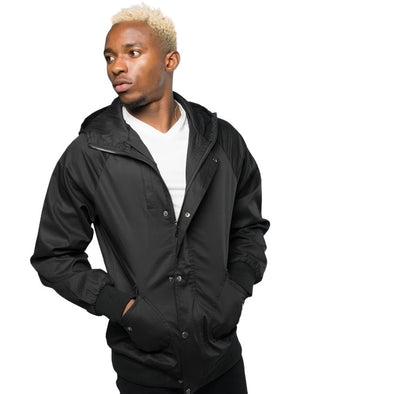 Turner Black Hooded Jacket