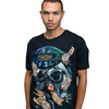 Pierced Police Dog Graphic T-Shirt