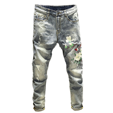 Crew Stylish Embroidered Jeans