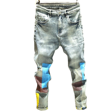 Cole Distressed Slim Fit Jeans