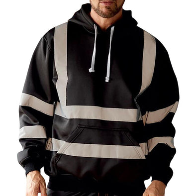 Striped Reflective Hoodie
