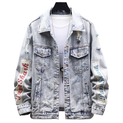 Trendy Ripped Denim Jacket