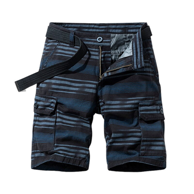 Double Pocket Striped Shorts