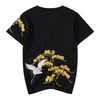 Crane Embroidered T-Shirt