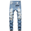 Classic Distressed Slim-Fit Jeans