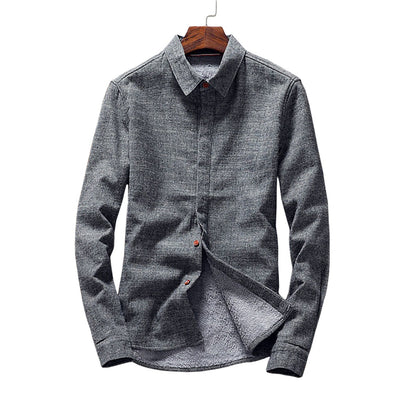 Thick Thermal Button-Down Shirt