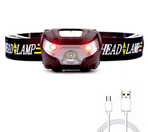 USB Rechargeable LED Headlamp