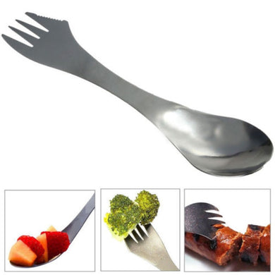 Outdoor Gadget 3 In 1 Stainless Spork