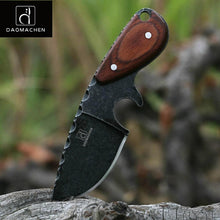DAOMACHEN Wood Handle Stonewash Stainless Steel Knife