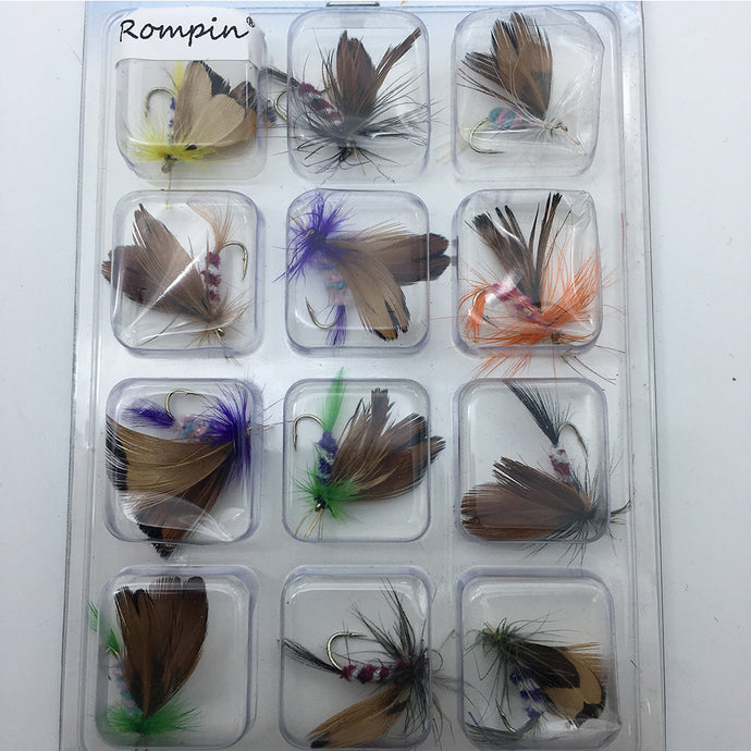 Fly Fishing set of 12 Trout flies