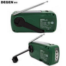 DEGEN DE13 FM AM SW Crank Dynamo Solar Power Emergency Radio