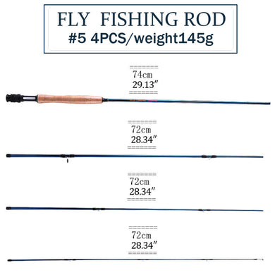 Sougayilang 8.8' Fly Fishing Rod & Reel Combo
