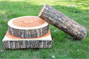 Wood Design Soft Log or Slice Pillow