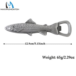 Stainless Steel Magnetic Trout Bottle Opener