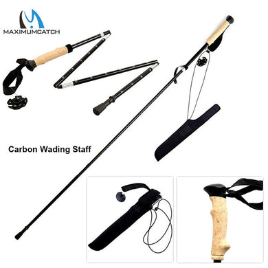 Maximumcatch Carbon Fiber Collapsible Wading Staff