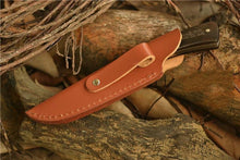 DAOMACHEN Damascus Style Steel & Wood Handle Hunting Knife