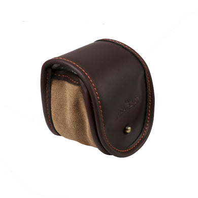 Tourbon Leather & Canvas Fly Reel Case