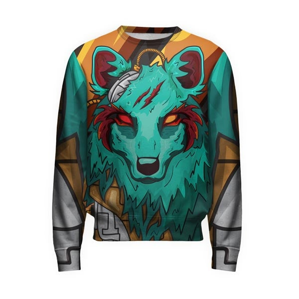 The Green Elite Wolf Pullover