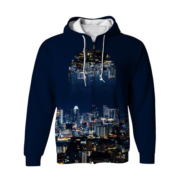 City Rain Zip Up Hoodie