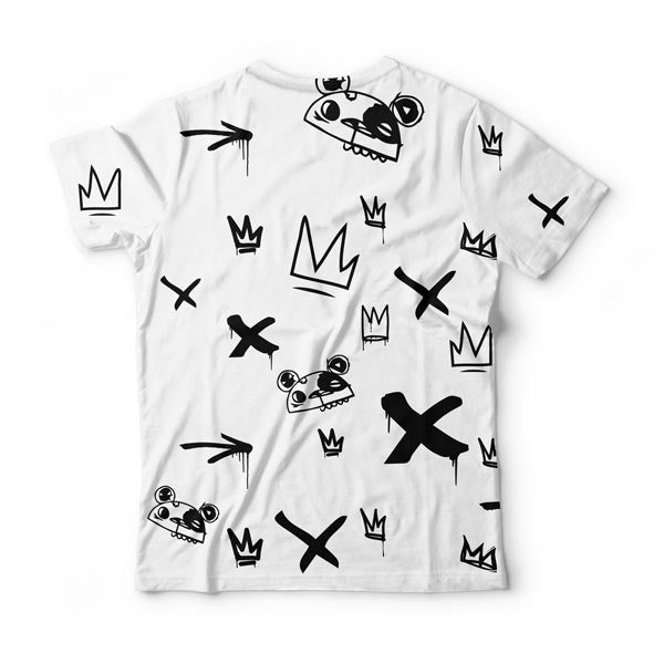 Kings Pattern White T-Shirt