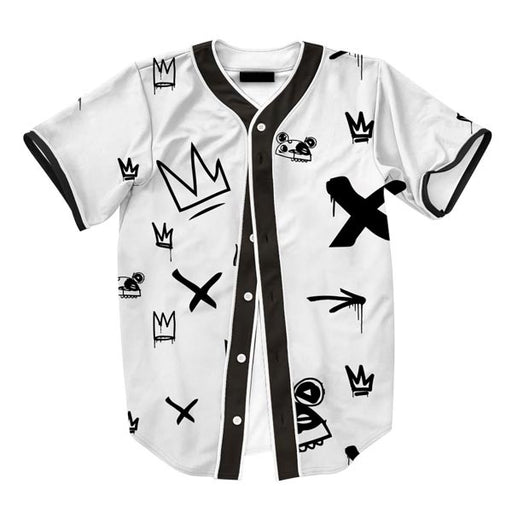 Kings Pattern White Jersey