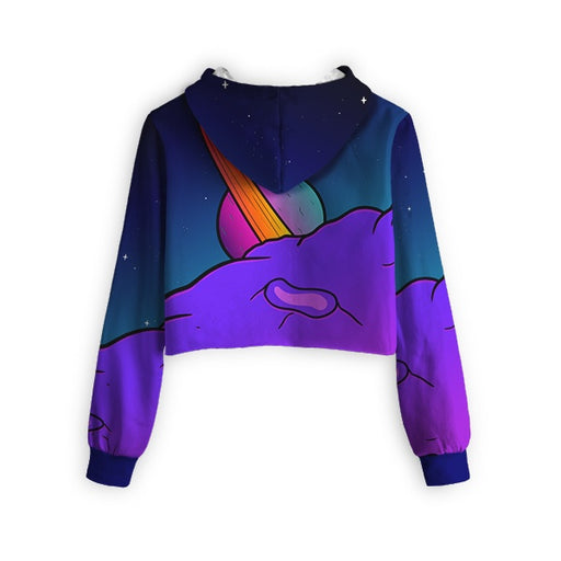 Parallel Universe Cropped Hoodie